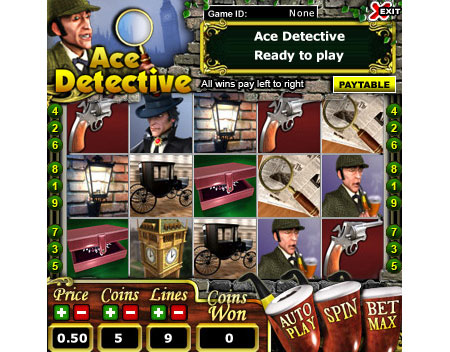 bingo cafe ace detective 5 reel online slots game