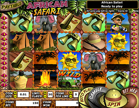 bingo cafe african safari 5 reel online slots game
