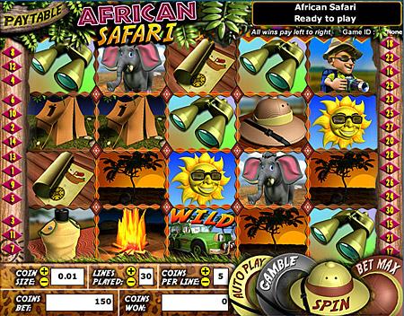 bingo cafe african safari 5 reel online slots game