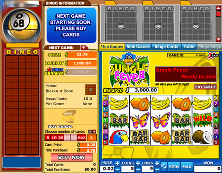 bingo cafe 75 ball online bingo game
