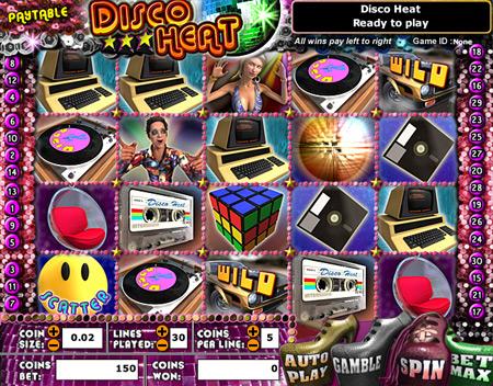 bingo cafe disco heat 5 reel online slots game