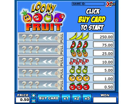bingo cafe loony fruit online instant win game