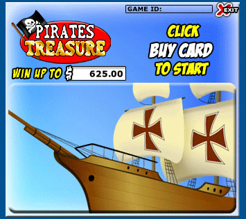bingo cafe pirates treasure scratch cards online instant win game