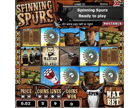 bingo cafe spinning spurs 5 reel online slots game