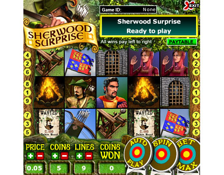 bingo cafe sherwood surprise 5 reel online slots game