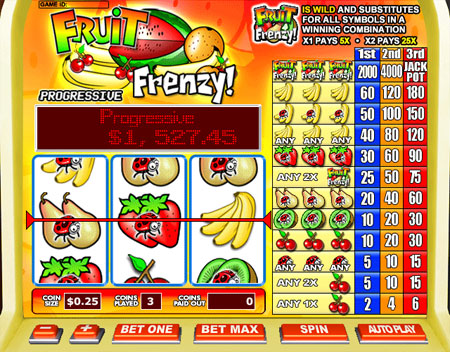 bingo cafe fruit frenzy 3 reel online slots game
