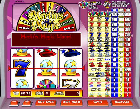 bingo cafe merlins magic 3 reel online slots game