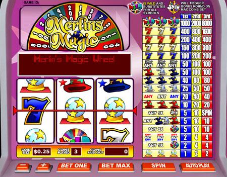 bingo cafe merlins magic 3 reel online slots game