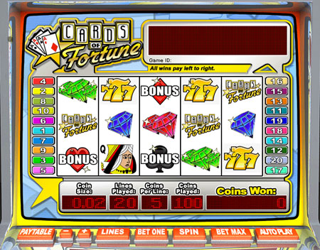 bingo cafe cards of fortune 5 reel online slots game