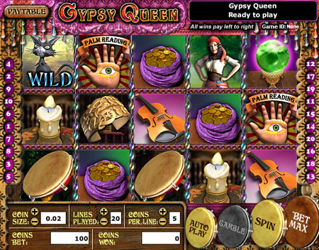 bingo cafe gypsy queen 5 reel online slots game