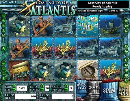 bingo cafe lost city of atlantis 5 reel online slots game
