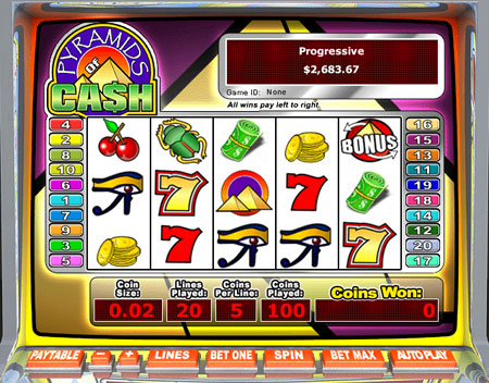 bingo cafe pyramids of cash 5 reel online slots game