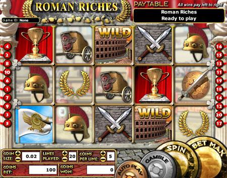 bingo cafe roman riches 5 reel online slots game